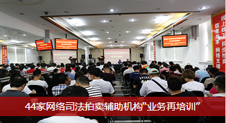 """【综合报道】44家网络司法拍卖辅助机构""""业务再培训"""""""